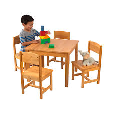 Amazon.com: KidKraft 21421 Farmhouse Table & 4 Chair Set, Natural ...