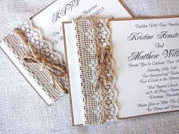 Rustic Wedding Invitations With Burlap Country