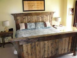 Rustic Bed Frames King Size Frame Modern Beds Design Ideas