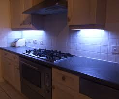 kitchen bench lighting cabinet spotlights recessed