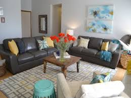 living yellow grey and turquoise living room coral tan yellow