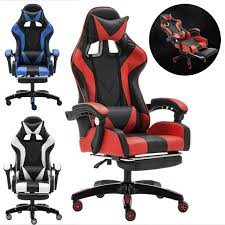 CLIENSY Gaming Chair Racing Recliner Bucket Seat Computer ... Dxracer Rw106 Racing Series Gaming Chair White Ohrw106nwca Ofm Essentials Style Faux Leather Highback New Padding Ueblack Item 725999 Ascari Ai01 Black Office Official Website Pc Game Big And Tall Synthetic Gaming Chair Computer Best Budget Chairs Rlgear Shield Chairs Top Quality For U Dxracereu Details About Video High Back Ergonomic Recliner Desk Seat Footrest Openwheeler Simulator Driving Simulator Costway Wlumbar Support