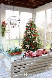 White Flocked Christmas Tree Walmart by 2013 Christmas Home Tour Hymns And Verses
