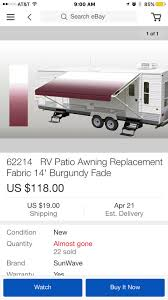 Are These Sun Wave Awnings Any Good? - Forest River Forums Awning How To Canopy So Doityourself Itructions Projectmidge List Manufacturers Of Rv Fabric Buy Get Replacement For Camper Power Patio Awnings Camping Rv Awning Boondock Or Bust Diy Repair Make An Economical Protective A Fabric Removal Part 1 Donald Mcadams Youtube Homemade Cover Vintage Trailer By Yourself 15oz Heavy Duty Vinyl Slideout Tough Top Rv Cheap Bromame Room Cheap Mod Using Pvc Pipe Fittings And Metal Ultimate Only With Shower