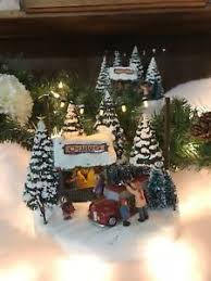 Thomas Kinkade Christmas Tree Cottage by 2017 Thomas Kinkade Christmas Village Ebay