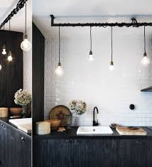 industrial kitchen lighting home design and decorating