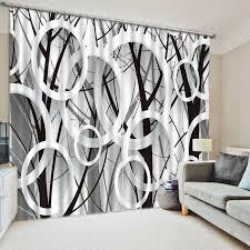 moderne blackout fenster vorhang luxus 3d vorhänge für wohnzimmer schlafzimmer schwarz weiß kreis design gardinen vorhänge