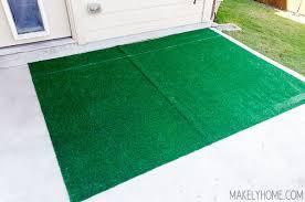 Diy Astroturf Grass Striped Patio Rug Makely Artificial Grass Rug