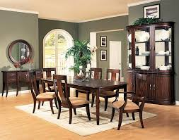 Distressed Cherry Formal Dining Room Set W Microfiber Seats