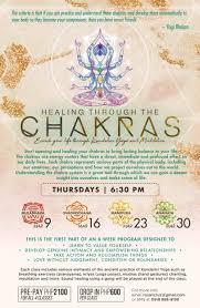 Heal Through Chakras 4 Week Yoga Series