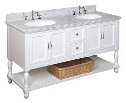 18 Inch Deep Bathroom Vanity Cabinet by Kitchen Bath Collection Kbc667wtcarr Beverly Double Sink Bathroom