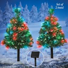 Light Up Outdoor Solar Mini Christmas Trees From Collections Etc