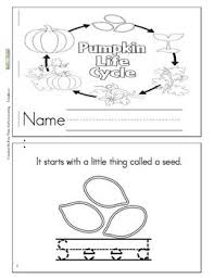 Printable Pumpkin Books For Preschoolers by Pumpkin Life Cycle Booklet Freebie K 3 Science Pinterest