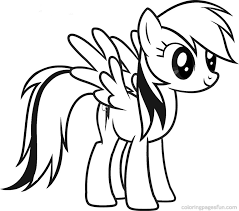 22 My Little Pony Coloring Pages Rainbow Dash 3064 Via Azcoloring