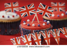 Themed British Celebration Cupcakes Iced Sponge Fairy Cakes Topped