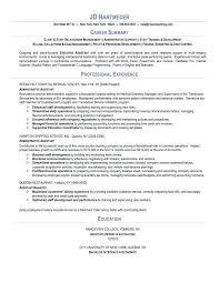 Summary Of Skills Resume Example Sample Hr