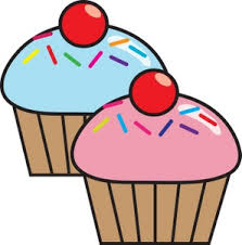 Cupcake clipart image blue and pink cupcakes