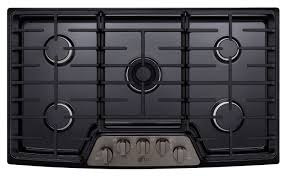 100 Studio 36 LG STUDIO Black Stainless Steel Gas Cooktops LSCG7BD