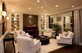 living room recessed lighting design ideas with white sofa for