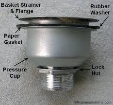kitchen sink drain strainer stuck labeled parts basket kraus