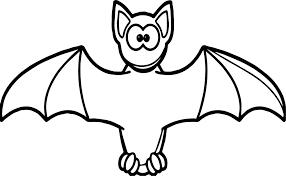 Cartooon Vampire Bat Coloring Page