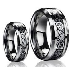 Men & La s 8MM 6MM Tungsten Carbide Wedding Band Ring Set w Laser