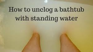 Unclog Bathtub Drain With Plunger by How To Unclog A Bathtub Drain With Standing Water