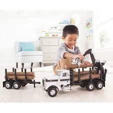 100 Toy Peterbilt Trucks TOMY Ertl Big Farm 367 Logging Truck With Pup Trailer 1