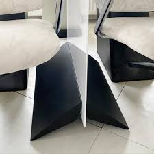 acrylglas trennwand mit aluminium standfuß