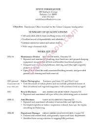 Resume Sample Handyman Office Assistant