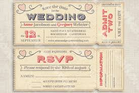 Wedding Ticket Invitation Template 55 Free Psd Vector Eps Ai Format