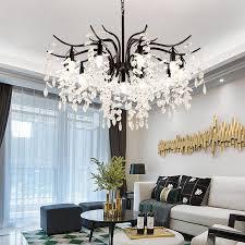 led kristall kronleuchter hause beleuchtung leuchte lüster de cristal moderne küche esszimmer wohnzimmer kronleuchter candelabro