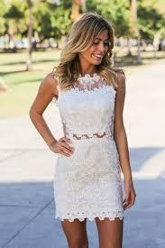 white lace short dress oasis amor fashion