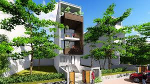100 Narrow House Designs Sketchup 4 Stories Design Size 44x16m