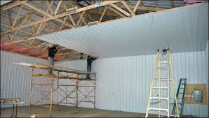 installing metal ceiling in pole barn