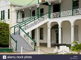 Belize City Supreme Court Building British Colonial Style Architecture Historic Landmark Tourist Attraction Cannon