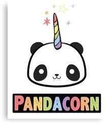 The Original Pandacorn Unicorn Panda Kawaii Funny Rainbow Graphic