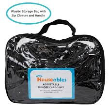 Houseables Bungee Net, Truck Bed Cover, 5mm Thick, 4' X 6', Elastic ...