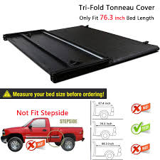 100 Truck Bed Length Amazoncom RAFTUDRIVE Assembly Lock TriFold Tonneau Cover Fit 2010