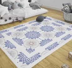 vinylteppich schlafzimmer blaue fliesen