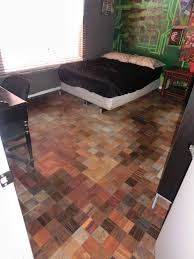 Awesome DIY Floor Done With Laminate Samples From Home Depot