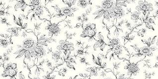 Shabby Chis Design Studio Jardin Black FlowerToile De Jouy