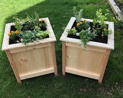 Rustic Box Planters Wood Planter Outdoor Flower