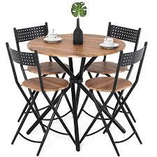 100 Round Oak Kitchen Table And Chairs Amazoncom Homury 5pcs Dining Set