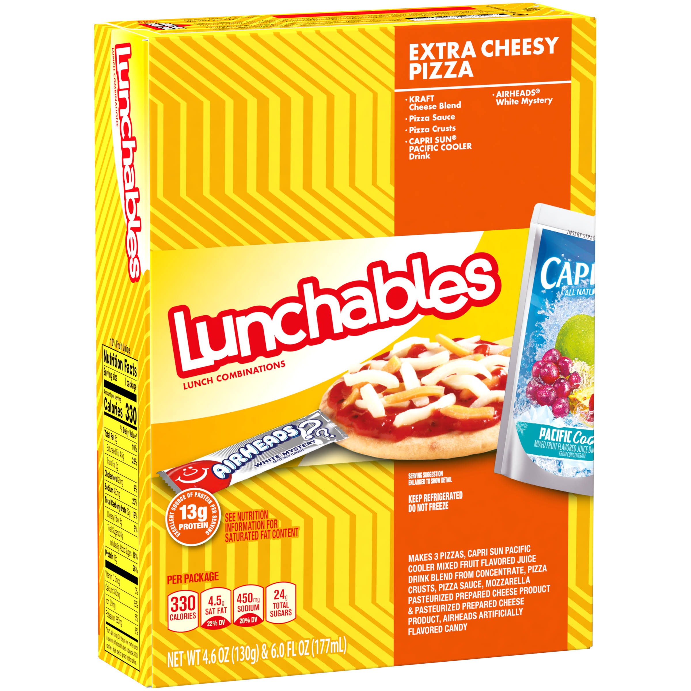 Oscar Mayer Lunchables Extra Cheesy Pizza Lunch Combinations