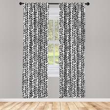 gardine fensterbehandlungen 2 panel set für wohnzimmer schlafzimmer dekor abakuhaus schwarz und weiß malen motiv kaufen otto