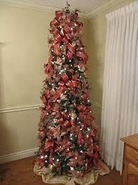 Pre Lit Pencil Cashmere Christmas Tree by Trendy Idea 7ft Pencil Christmas Tree Plain Decoration 7 Ft Pre