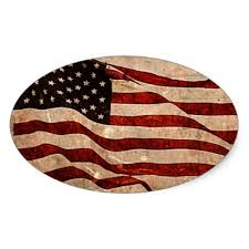 Distressed American Flag II Sticker