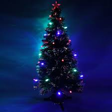 Fiber Optic Led Christmas Tree 7ft by 7ft Green Pre Lit Multi Colour Fibre Optic Christmas Tree Colour