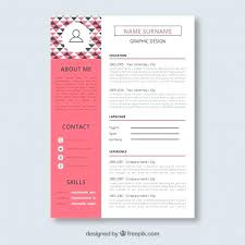 Designer Resume Templates Free Cool Graphic Template Vector